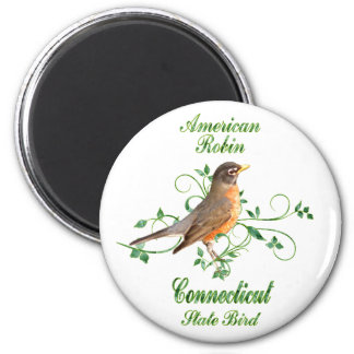 Robin Connecticut State Bird Magnet