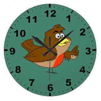 Robin design wrist watches large clock