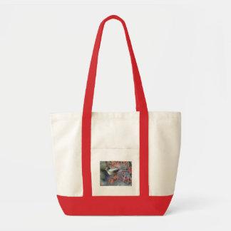 Robin eating berry impulse tote bag