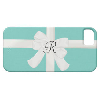 Robin Egg Blue Custom Initial iPhone Case