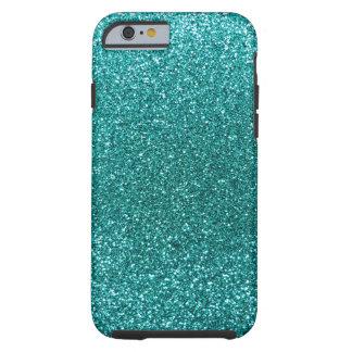 Robin egg blue glitter tough iPhone 6 case