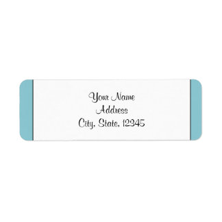 Robin Egg Blue Initials Posh Wedding Label