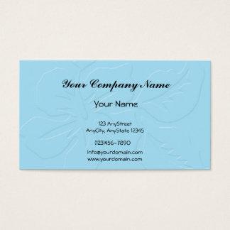 Robin Egg Blue Tone on Tone Hibiscus Business Card