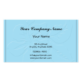 Robin Egg Blue Tone on Tone Hibiscus Business Card