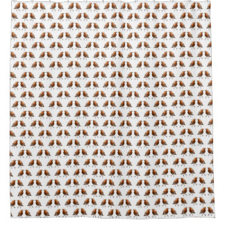Robin Frenzy Shower Curtain (choose colour)
