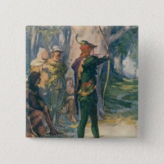 Robin Hood 15 Cm Square Badge