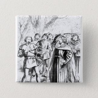 Robin Hood and King Richard I 15 Cm Square Badge