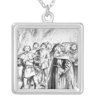 Robin Hood and King Richard I Silver Plated Necklace