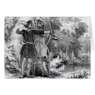 Robin Hood and Little John Card