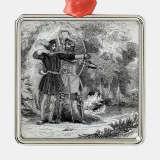 Robin Hood and Little John Christmas Ornament