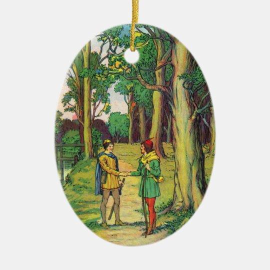 Robin Hood And Little John Christmas Ornament