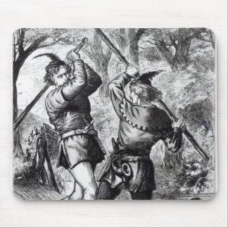 Robin Hood and Little John Mouse Mat
