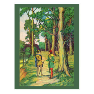 Robin Hood And Little John Postcard
