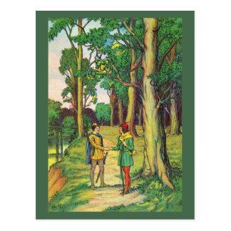 Robin Hood And Little John Postcard
