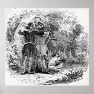 Robin Hood and Little John Poster