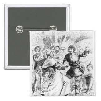 Robin Hood and the Bishop 15 Cm Square Badge