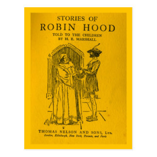 Robin Hood As Told Postcard