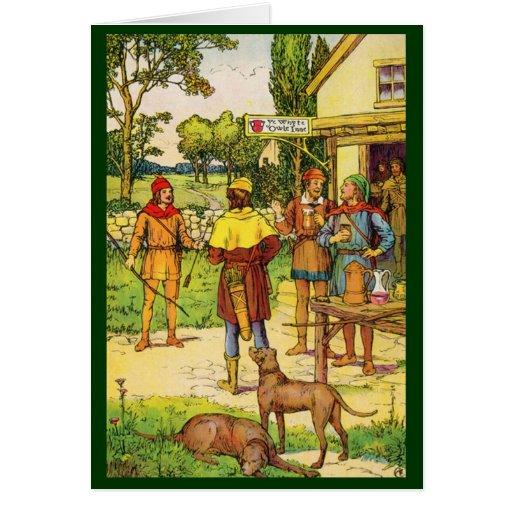 Robin Hood At The Tavern Greeting Cards