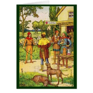 Robin Hood At The Tavern Greeting Card