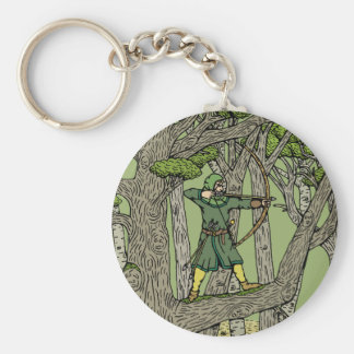 Robin Hood Basic Round Button Key Ring