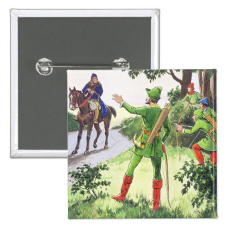 Robin Hood, from 'Peeps into the Past', published 15 Cm Square Badge
