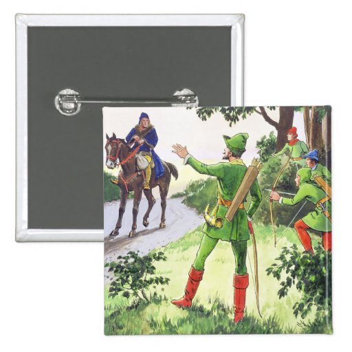 Robin Hood, from 'Peeps into the Past', published Pinback Button
