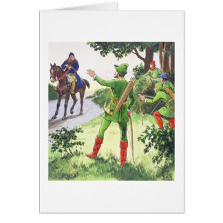 Robin Hood, from 'Peeps into the Past', published Card