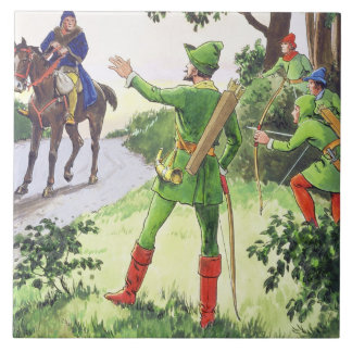 Robin Hood, from 'Peeps into the Past', published Large Square Tile