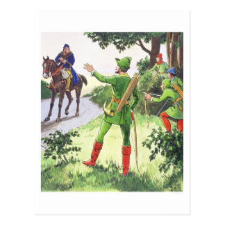 Robin Hood, from 'Peeps into the Past', published Postcard