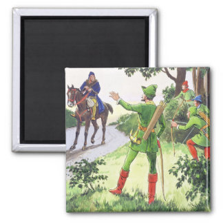 Robin Hood, from 'Peeps into the Past', published Square Magnet