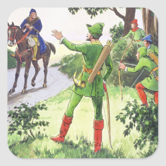 Robin Hood, from 'Peeps into the Past', published Square Sticker