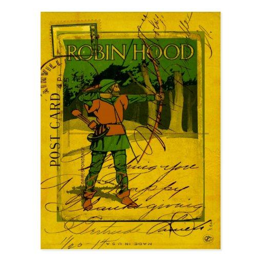 Robin Hood, His Bow and Arrow Post Card