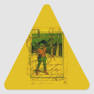Robin Hood, His Bow and Arrow Triangle Sticker