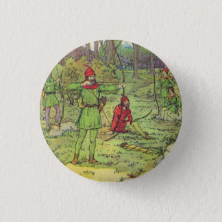Robin Hood In The Forest 3 Cm Round Badge
