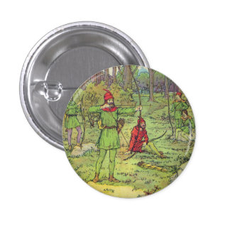 Robin Hood In The Forest Buttons
