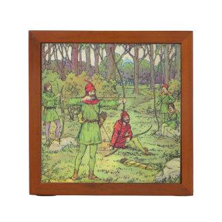 Robin Hood In The Forest Desk Organiser