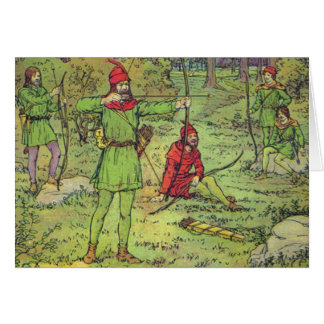 Robin Hood In The Forest Greeting Card
