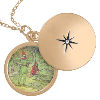 Robin Hood In The Forest Locket Necklace