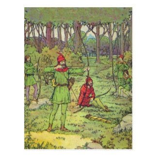 Robin Hood In The Forest Postcard