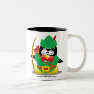 Robin Hood Penguin Two-Tone Coffee Mug