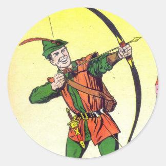 Robin Hood Round Sticker