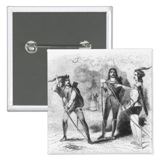 Robin Hood, Scarlet and John 15 Cm Square Badge