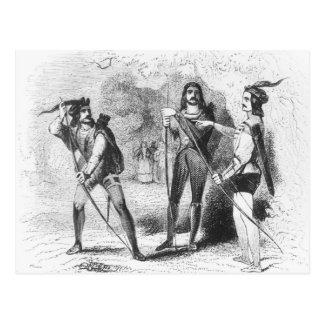 Robin Hood, Scarlet and John Postcard