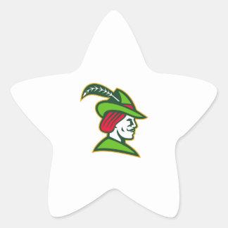 Robin Hood Side Retro Star Sticker