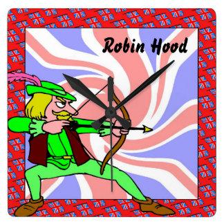 Robin hood square wall clock