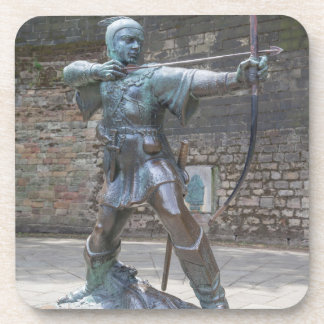 Robin Hood Statue by Nottingham Castle photo Coaster