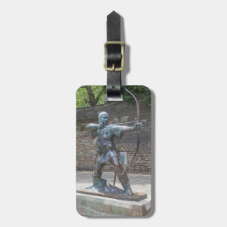 Robin Hood Statue by Nottingham Castle photo Luggage Tag