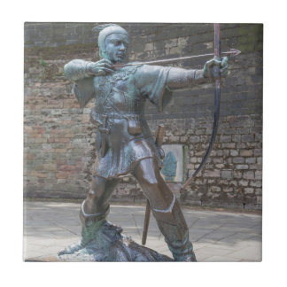 Robin Hood Statue by Nottingham Castle photo Tile
