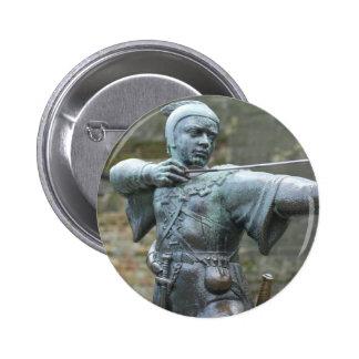 Robin Hood Statue Nottingham 6 Cm Round Badge