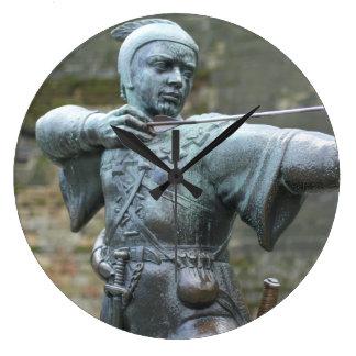 Robin Hood Statue Nottingham Large Clock